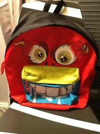 Scary face backpack
