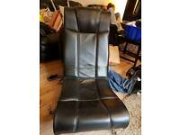 Leather rocking gamer chair
