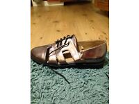 Missguided patent metallic shoes size 7