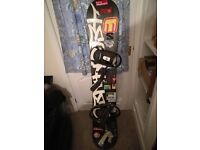 Technine snowboard with salomon bindings