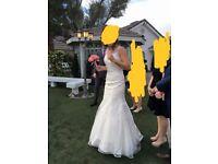 Designer wedding dress size 10