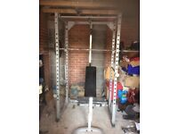 Powerline Power Rack, Bench and Weights Good Condition - Collection Only