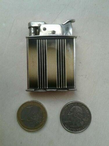 Vintage Art Deco Enamel EVANS Trig-a-Lite Pocket Cigarette Lighter Petrol