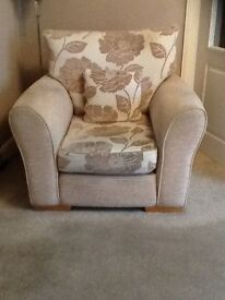 3 seater sofa and armchair.