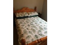 Vintage Solid Pine Double Bed