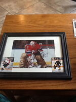 Patrick Roy autographed picture and autographed cards