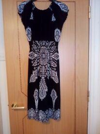 Ladies Black and White Dress Size 10