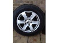 Volkswagen Touareg winter tires on rims