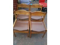 FREE 4 dining chairs for upcycle/recycle project, 20th century design