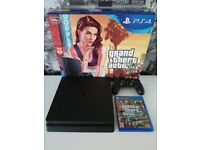 Playstation 4 Slim 500GB - Perfect condition (with original box, dualshock4 and GTA5)