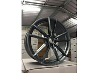 "18"" ALLOYS WHEELS GOLF R PRETORIA STYLE R32 GTD GTI TOURAN POLO SEAT AUDI PASSAT TDI"