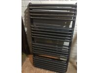 Brand New Anthracite middle connection heated towel radiator RRp £685