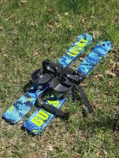 Lucky Bums Kid's Beginner Snow Skis 70cm