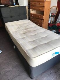 SINGLE DIVAN BED WITH STORAGE CAN DELIVER