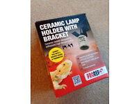 Reptile ceramic lamp holder with bracket for sale