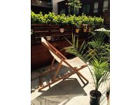 2 x Habitat Deckchairs (barely used) for sale -£130ono