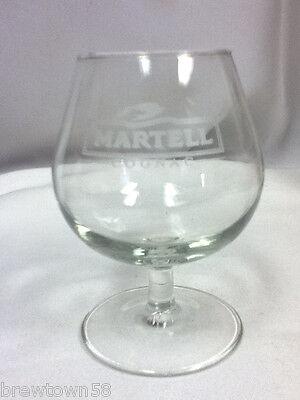 Martell cognac cocktail bar glass liquor glasses 1 drink snifter stemmed FH7