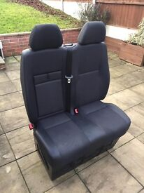 double seat chair from Mercedes sprinter 2012 could be custom rear seat half leather as NEW !!!!