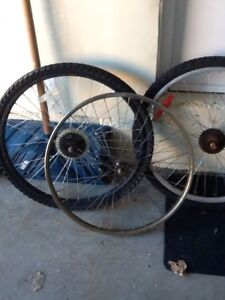 Bicycle wheels - front and rear