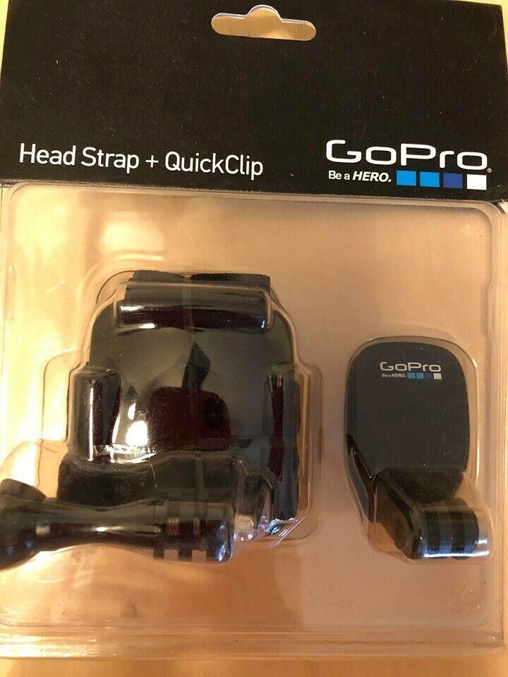 Go Pro Head Strap and Quick Clip New in box