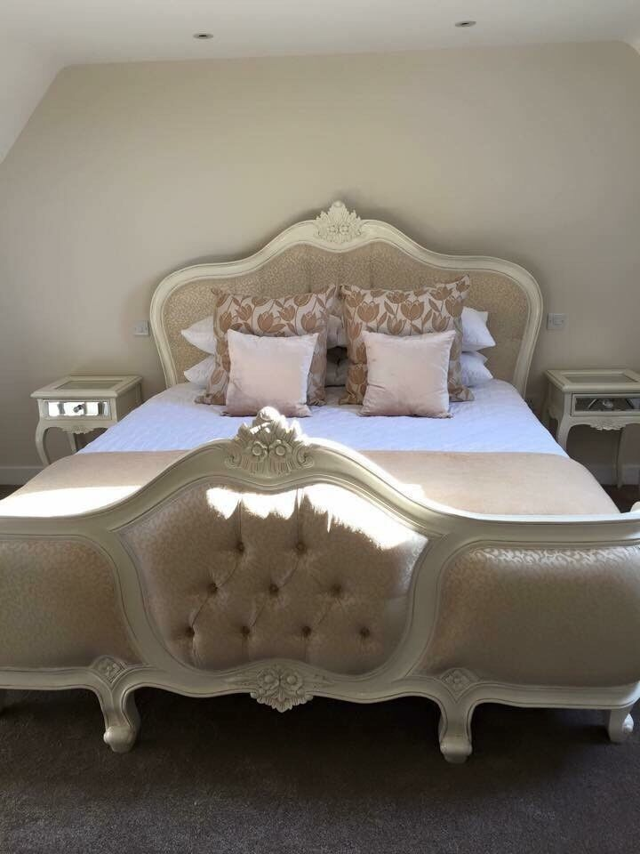 Wonderful Super King French Style Bed With Matching Bedside Tables U0026 Dressing Table  With Mirror