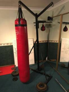 80 KG Heavy Bag + 20KG Bag + Speedball + Stand + Weight plates & boxing bag in Blacktown Area NSW | Gym u0026 Fitness | Gumtree ...