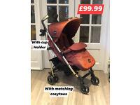 Brand new Icoo pace luxury stroller pram pushchair in mocca 0-25 kg £99