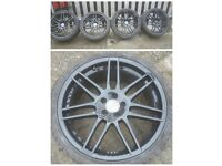 4 SETS OF ALLOYS VW AUDI 5X100 AND 5X112