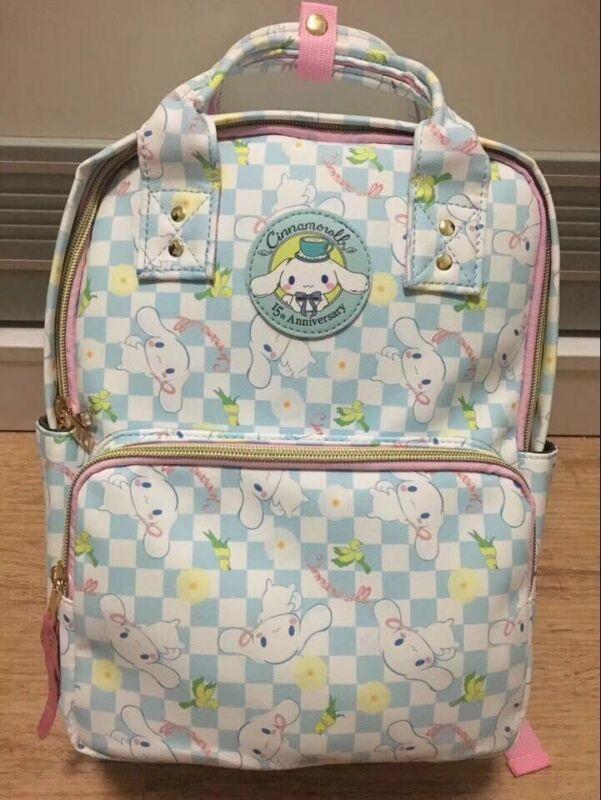 Cute Cinnamoroll Dog Backpack PU Leather Schoolbag Teenage Shoulder Travel Bag