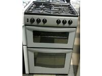 e.581 silver new world 55cm gas cooker comes with warranty can be delivered or collected
