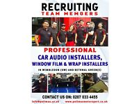 We are Recruiting Car Audio/Alarm Installer, Window Tinter / Car Wrapper Professional