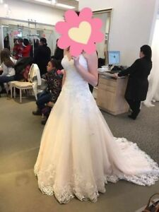 VERY GORGEOUS BRAND NEW BLUSH WEDDING GOWN