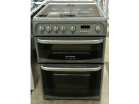 l343 silver cannon 60cm double oven gas cooker comes with warranty can be delivered or collected