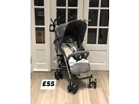 BRAND NEW HAUCK SPEED PLUS BUGGY PRAM PUSHCHAIR IN HEARTS GREY WITH RAINCOVER UPTO 15 kg