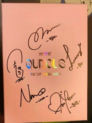 WOOAH QURIOUS -2nd single Autograph ALL MEMBER Signed PROMO ALBUM KPOP signature