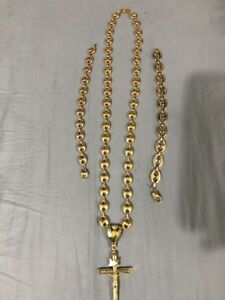 14k and 10k gold chain and bracelets combo