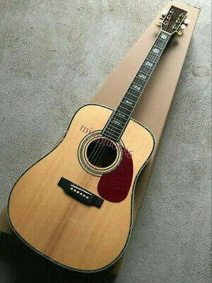 Chinese Custom CL-45 Model Solid Spruce Top Good Quality Acoustic Guitar