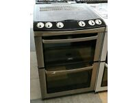 a046 stainless steel zanussi 60cm double oven gas cooker come with warranty can be delivered
