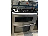 d246 stainless steel parkinson cowan 60cm double oven gas cooker comes with warranty can be deliered
