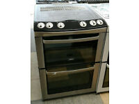 a046 stainless steel zanussi 60cm double oven gas cooker comes with warranty can be delivered