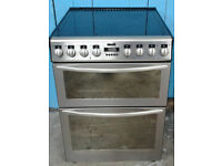 w552 stainless steel stoves 60cm double oven ceramic hob electric cooker comes with warranty