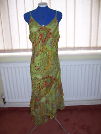 Multi-Coloured Evening Dress By Joy Size 12 UK New Without Tags