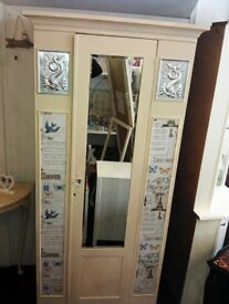 Shabby chic single wardrobe
