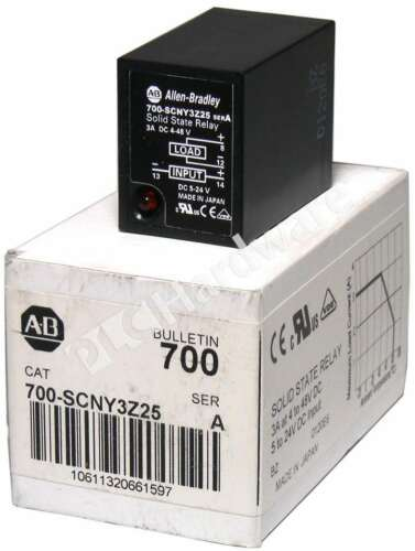 New Allen Bradley 700-SCNY3Z25 /A Ice Cube Socketed Solid-State Relay Qty