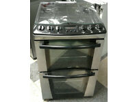 l353 stainless steel zanussi 55cm double oven gas cooker comes with warranty can be delivered