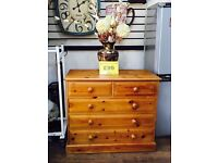 Quality pine 5 drawers chest