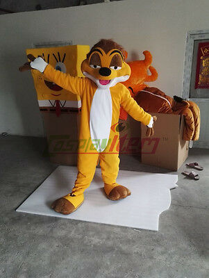 Timon Mascot Costume Lion King's Timon &Pumbaa Animal Halloween Cosplay UK - Timon Halloween Costume