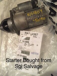 Selling a starter from Sgi salvage
