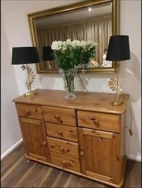 Solid Wood Sideboard Table Excellent Quality / Extremely Sturdy Pine