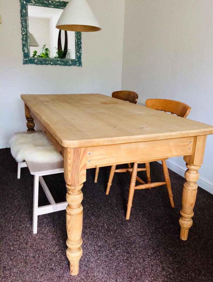 Brilliant Table Bench And Chairs 3 Solid Pine And Birch In Bridgwater Somerset Gumtree Caraccident5 Cool Chair Designs And Ideas Caraccident5Info